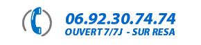 Numéro de téléphone KAYAK TRANSPARENT REUNION 0692 30 74 74